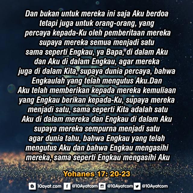 Yohanes 17: 20-23