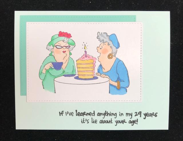 Granny Cats Crafts Girlfriends Birthday Card