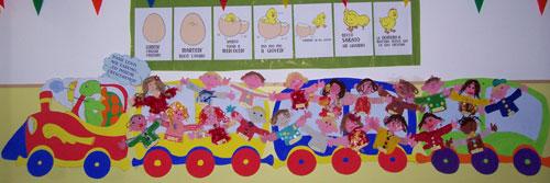 Dada pasticciona attivit per l 39 inserimento for Idee per decorare un aula di scuola