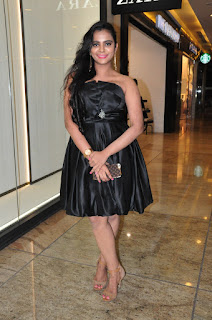 Manasa in Short Black Sleevless Frock Spicy Pics