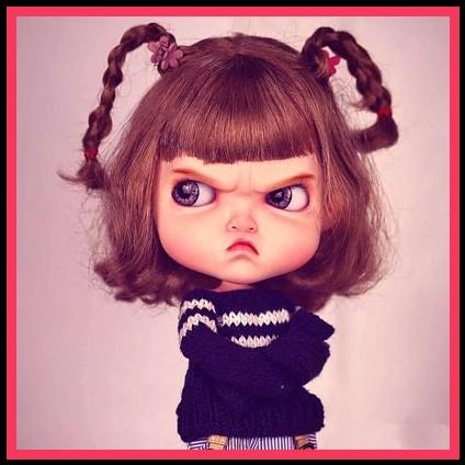 angry girl stylish dp