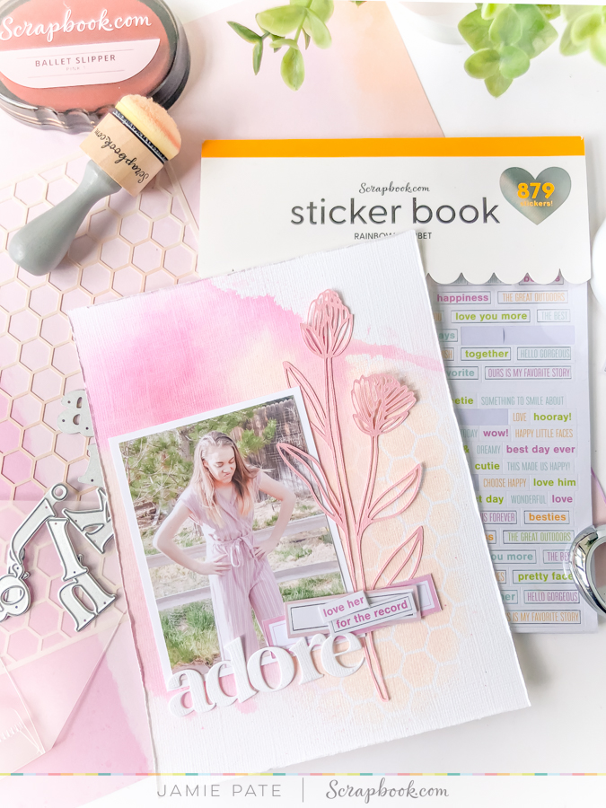 How I Challenged Myself to a Scrapbook Page