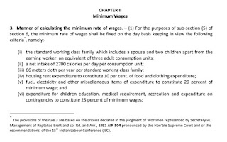 Calculating the minimum rate of wages Central Government Code on Wages 2019