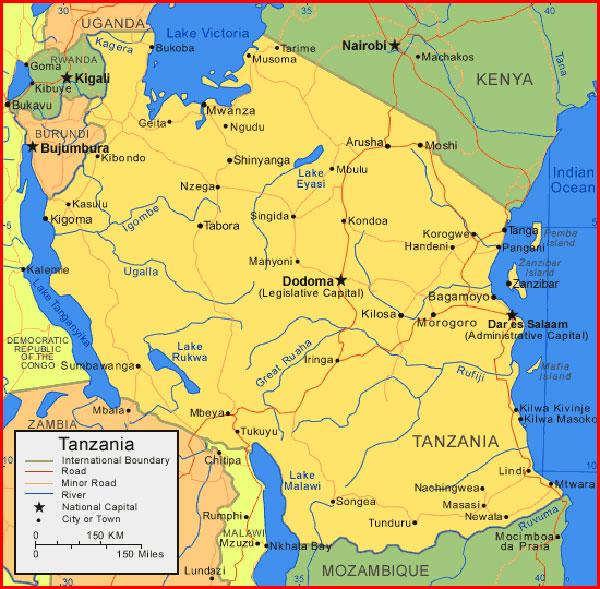 image: Map of Tanzania