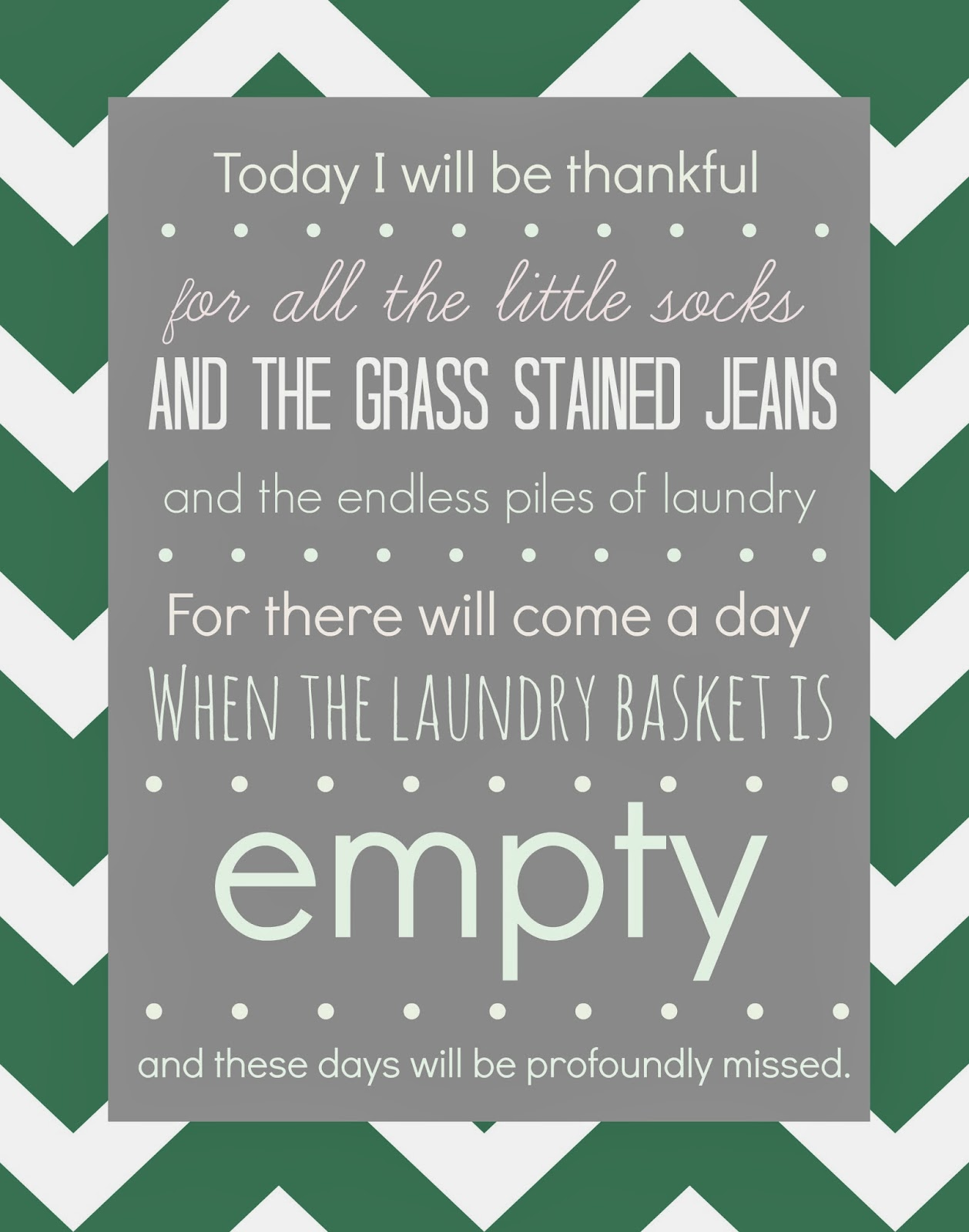 FREE Laundry Room Printable - Might Make You Cry! | Designer