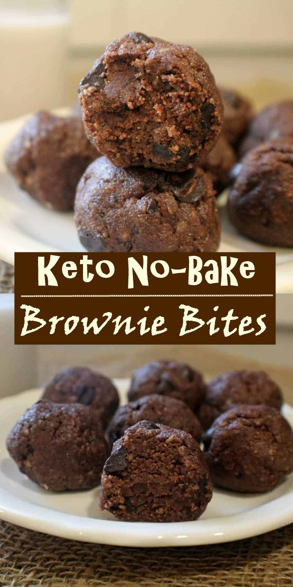 Keto No-Bake Brownie Bites #dessertrecipes