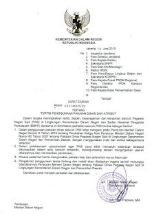 Isi Surat Edaran Kemendagri Tentang Seragam Dinas PNS, Khusus Hari Kamis Serba Hitam?