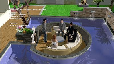 Jasa pembuatan kolam koi jasataman co id tukang taman surabaya