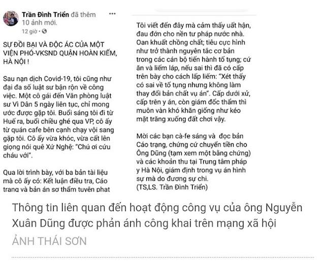 """Đình chỉ công tác viện phó viện KSND quận Hoàn Kiếm bị tố """"ăn bẩn"""" của dân"""