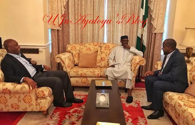 Saraki, Dogara visit President Buhari in London