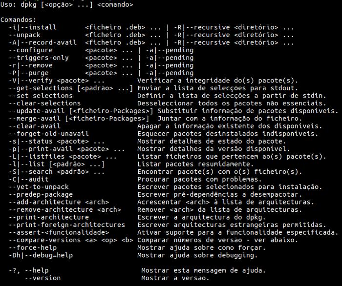 comando dpkg no terminal do ubuntu para instalar programars