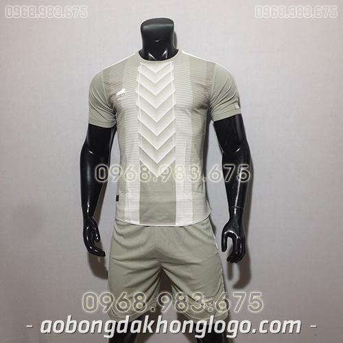 Áo bóng đá ko logo Zuka TV màu xám