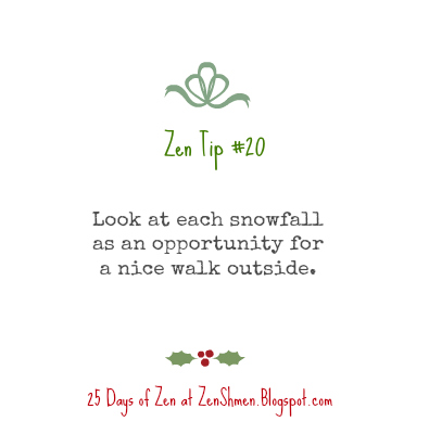 25 Days of Zen | Holiday Edition | Reducing overwhelm and making time to enjoy the holiday season | zenshmen.com