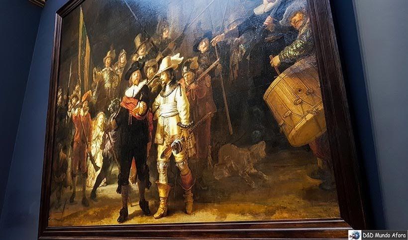 Tela Ronda Noturna de Rembrandt - Rijksmuseum: como visitar o museu de Amsterdam