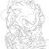Sonic cover para Colorir