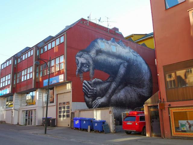 British Street Artist Phlegm Paints A New Urban Mural In Northern Norway. 2