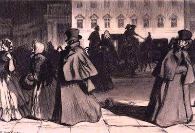 Εικονογράφηση του Boris Mikhailovich Kustodiev για το Παλτό του Γκόγκολ / Gogol's Overcoat illustration by Boris Mikhailovich Kustodiev