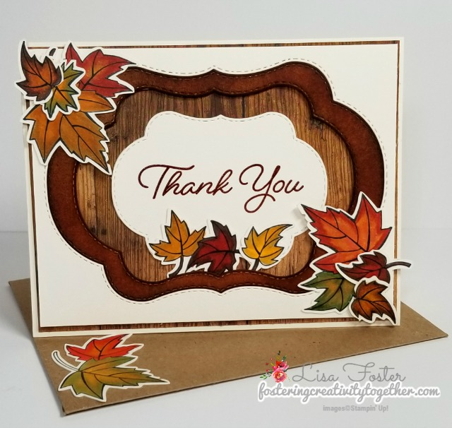 blended seasons bundle, fall card, thank you, stampin up