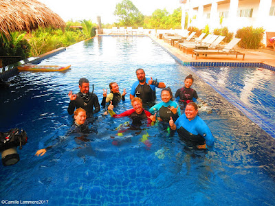 The PADI IDC for January 2017 on Koh Lanta has started