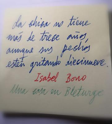Fragmento de la novela Una casa en Bleturge, de Isabel Bono (Premio Café gijón de novela 2016)