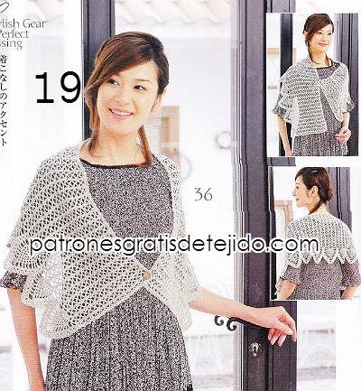 patrones chal crochet