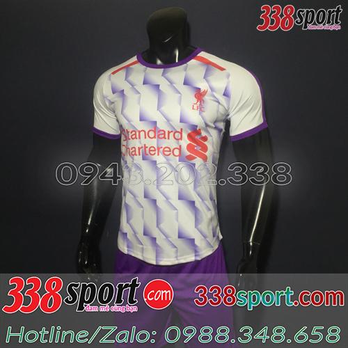 Áo Câu Lạc Bộ Liverpool Trắng Tím 2018 2019 Training 3
