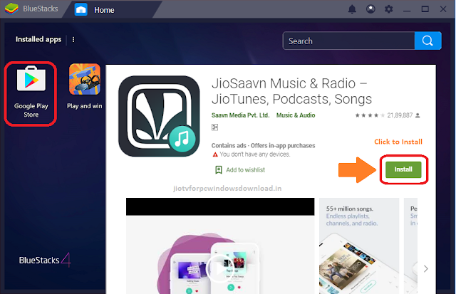 jiosaavn for pc windows