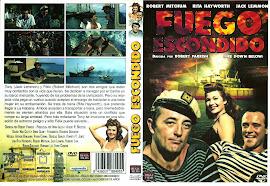 Fuego escondido 1957 - Carátula