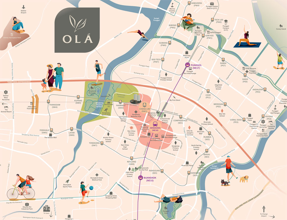 OLA EC Location Map