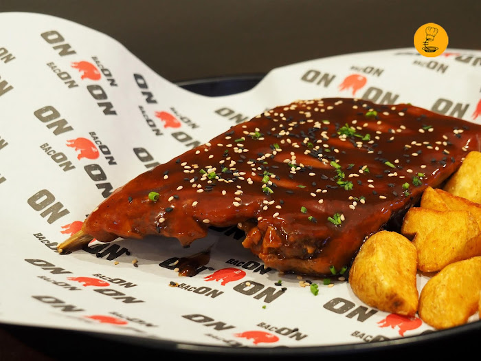 Costillas al estilo de St. Louis en Bacon Madrid
