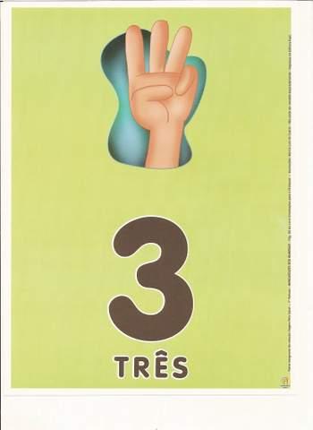 Cartazes de Numerais | Número três