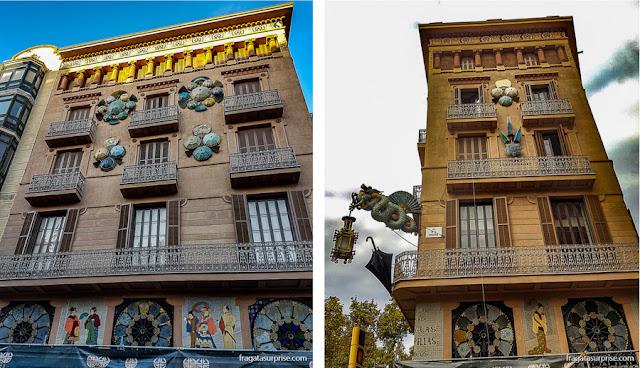 Casa Bruno Cuadros (Casa dos Guarda-Chuvas), Modernismo nas Ramblas de Barcelona