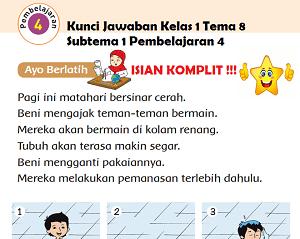 Kunci Jawaban Buku Tematik Siswa Kelas 1 Tema 8 Subtema 1 Pembelajaran 4 Halaman 35, Halaman 37, www.jokowidodo-marufamin.com