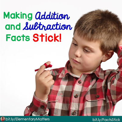 Making Addition and Subtraction Facts Stick: This blog post tells about a system for addition and subtraction facts  that is research based.