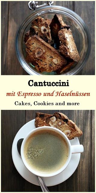 Rezept für Cantuccini mit Espresso, Schokolade und Haselnüssen