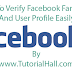 How To Verify Facebook Fan Page And User Profile Easily