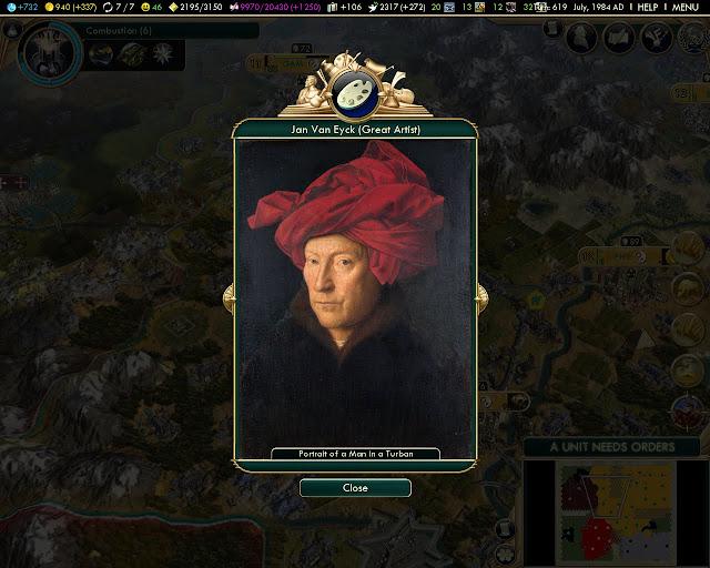 Portrait of Mani in a Turban by Jan Van Eyck