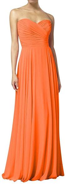 Orange Chiffon Bridesmaid Dresses