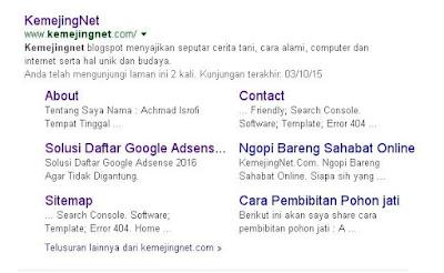 Cara Mendapatkan Sitelink Dari Google