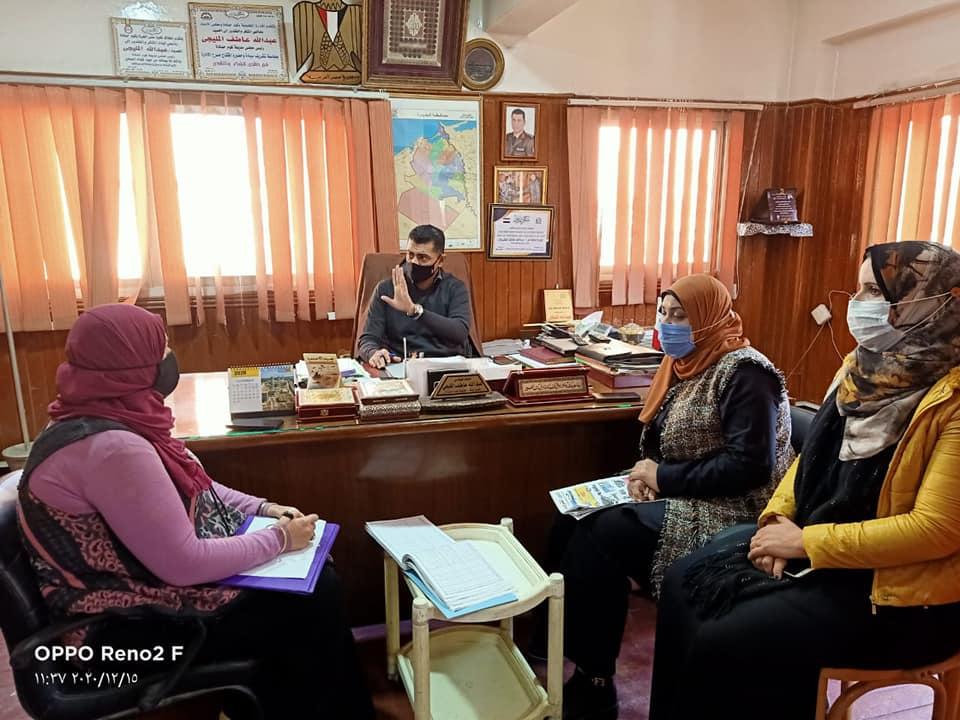 """بالصور """"المليجي"""" يعقد اللقاء الجماهيري الاسبوعي لمركز كوم حماده"""