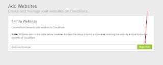 Cara Setting / Konfigurasi Domain Pada CloudFlare