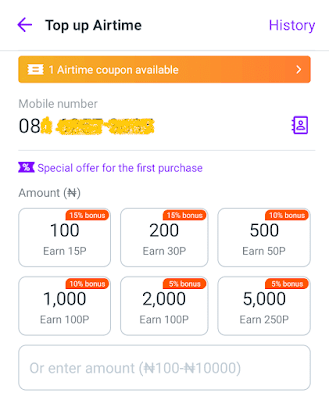 Airtime discounts on payment apps