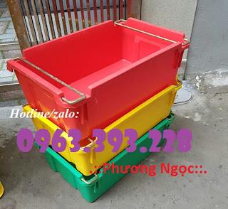 Thùng nhựa có quai xách, hộp nhựa đựng hải sản 48c85cad54c3b29debd2