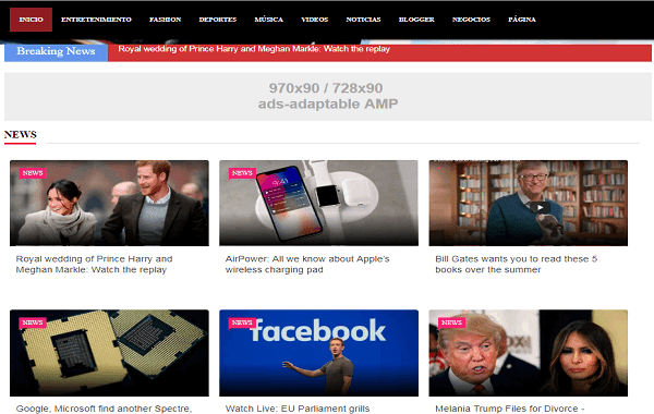 AMP Breaking News Premium Blogger Template