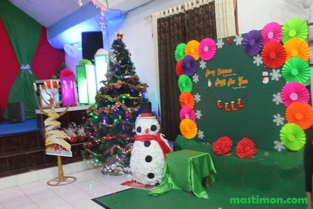 """Dekorasi Natal terbaru dan terbaik hasil karya GBT """"Yesus Alfa Omega"""" Bukuan"""