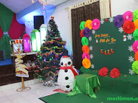 Dekorasi Natal terbaru dan terbaik hasil karya GBT Yesus Alfa Omega Bukuan