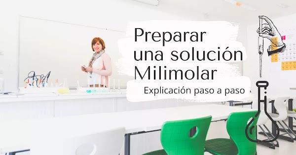 ▷ Cómo preparar FÁCIL una solución 100 mM (Milimolar) - Explicación paso a paso