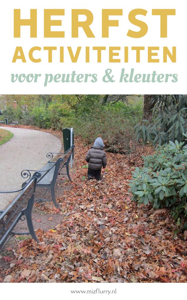 herfst activiteiten peuters en kleuters