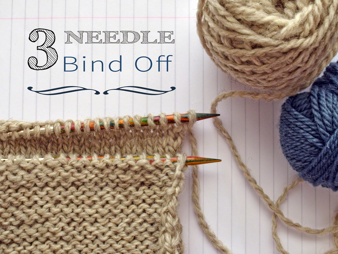 3 needle bind off tutorial