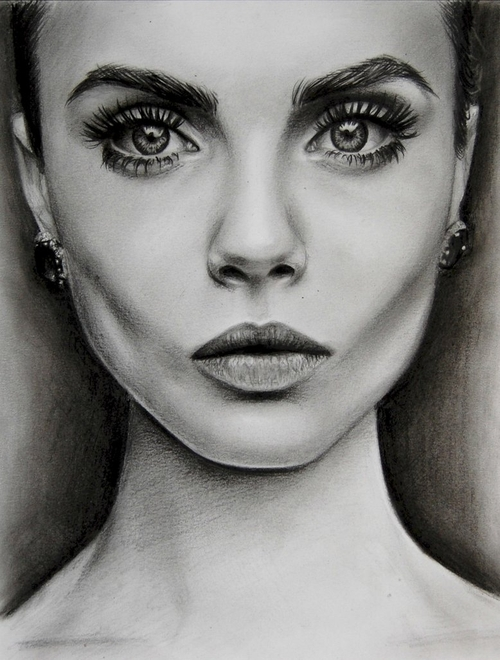 03-Cara-Delevingne-Valentina-Zou-Pencils-and-Charcoal-Hyper-Realistic-Drawings-www-designstack-co